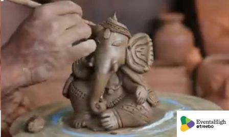 Eco friendly Ganesh Idol making workshop