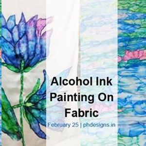 Alcohol Ink Painting on Fabric