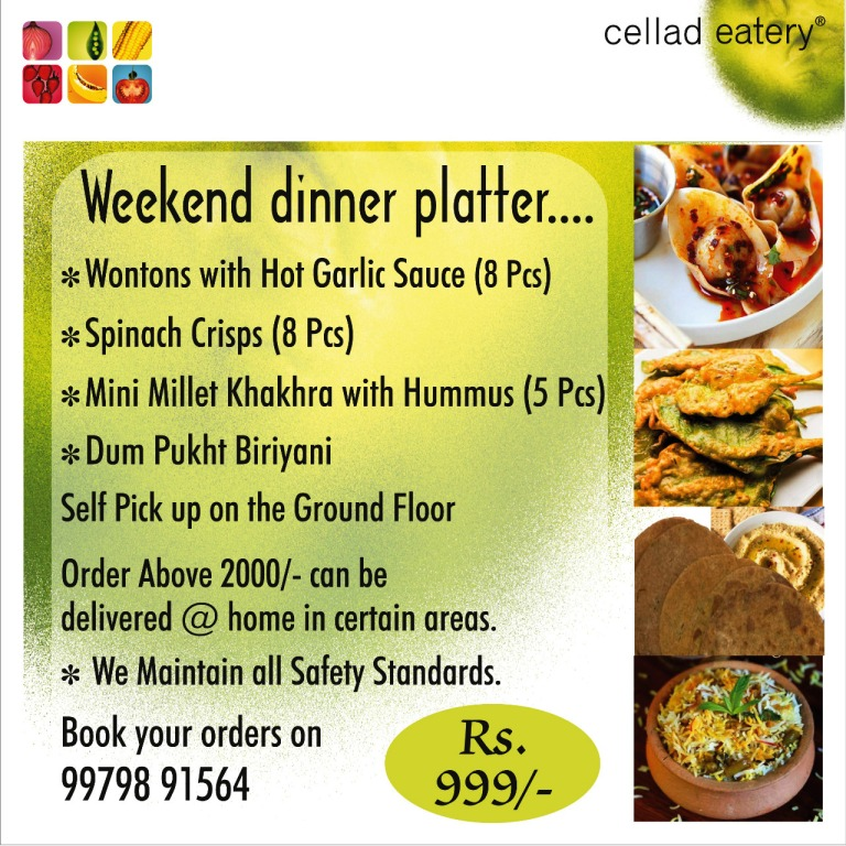 Weekend Dinner Platter - by Cellad Eatery - Tasty and Hygienic